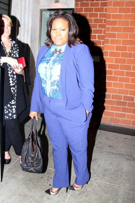 Amber Riley dresses smart and sophisticated for dinner at Mr. Chow - Part 2
