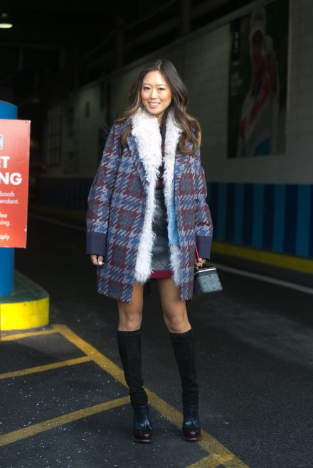 Aimee-Song-layered-up-shearling-houndstooth