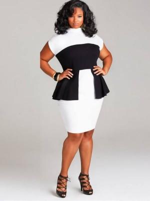 Peplum-black-and-white-dress-bny-Monif-C-Plus-Sizes-e1391996862972